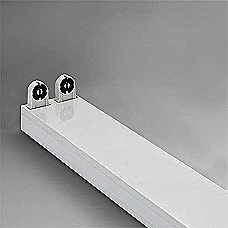 Open Channel, Double, 2 foot, Fitting wired for LED