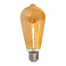 Amber ST64 Pear Shape LED Lamp 4W Filament (Dimmable)